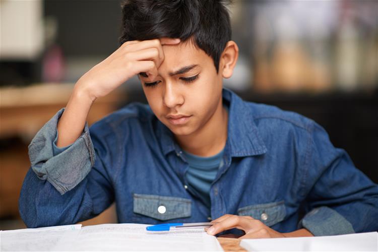 Anxious Middle School Boy